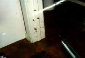 crime scene toilet door frame