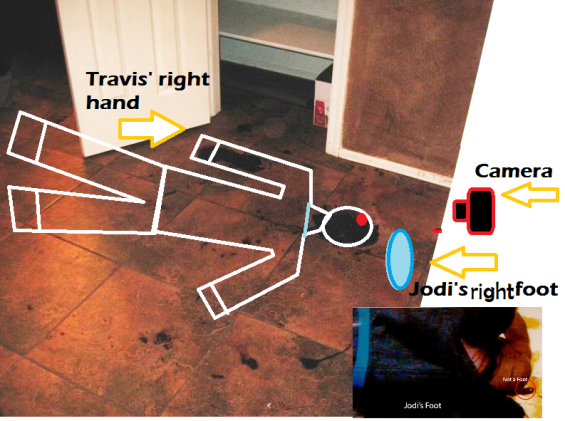 "Just a theory of Travis' location at the time of the ""foot photo"""